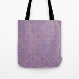 Round Pink Grey Pattern Tote Bag
