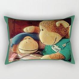 "Monkey ""Sick"" Rectangular Pillow"