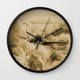 Ghost Flight- Amelia Earhart Sepia Wall Clock