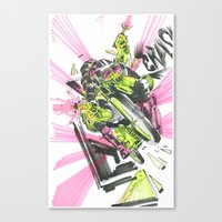 moto Canvas Prints featuring Moto Mutants by Mike McDonnell