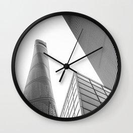 colorless shanghai 4 Wall Clock