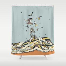 WALK ON THE OCEAN Shower Curtain