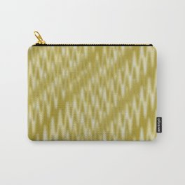 Golden Wavelength Fuzzy Caramel Spikes Carry-All Pouch