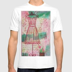 Spring Dress Form White Mens Fitted Tee MEDIUM