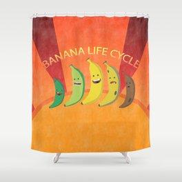 Banana Life Cycle Shower Curtain
