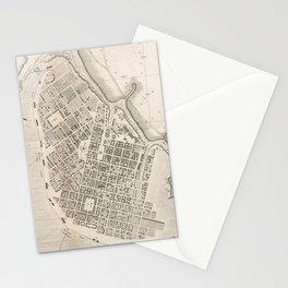 Vintage Map of Odessa Ukraine (1827) Stationery Cards