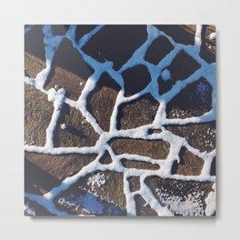 snow pattern on the ground Metal Print