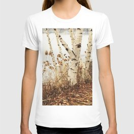 Autumn Birches by the Lake T-shirt