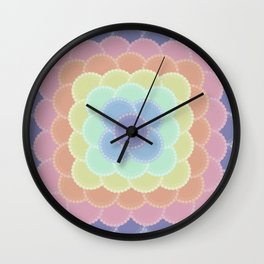 Layered Lace Circles Wall Clock