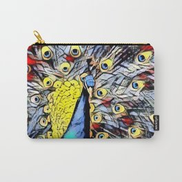 Color Kick - peacock Carry-All Pouch