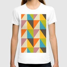 Retro Color Block Chevron Color Fun T-shirt