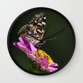 Butterfly Blossom Wall Clock