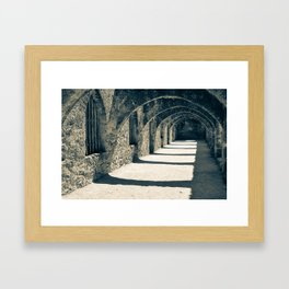 San Antonio Mission San Jose - Sepia Framed Art Print