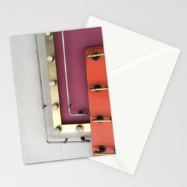 Neon and Lights in Vegas Stationery Cards