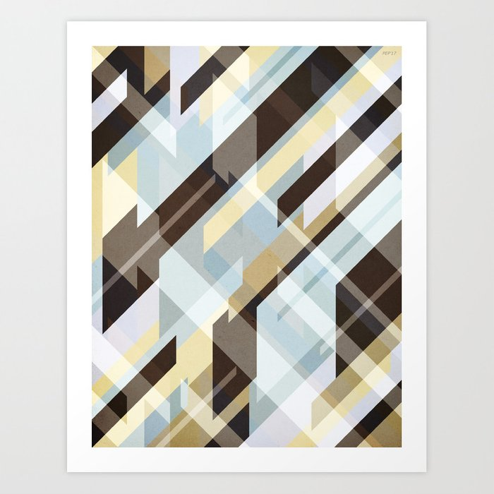 Geometric Earth Tones Abstract Art Print