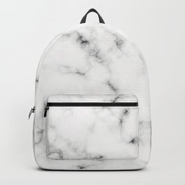 White Marble Design Backpack