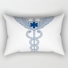 Caduceus With Pilot Wings EMT Star Icon Rectangular Pillow