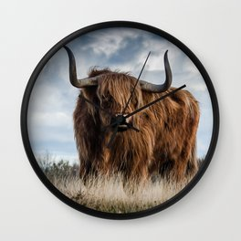 Bull Landscpe nature Wall Clock