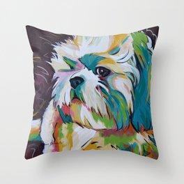 Grady the Shih Tzu Throw Pillow