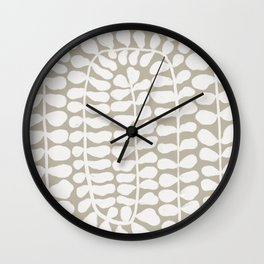 One Hundred-Leaved Plant #3 Wall Clock