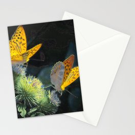 Orange Butterflies IV Stationery Cards