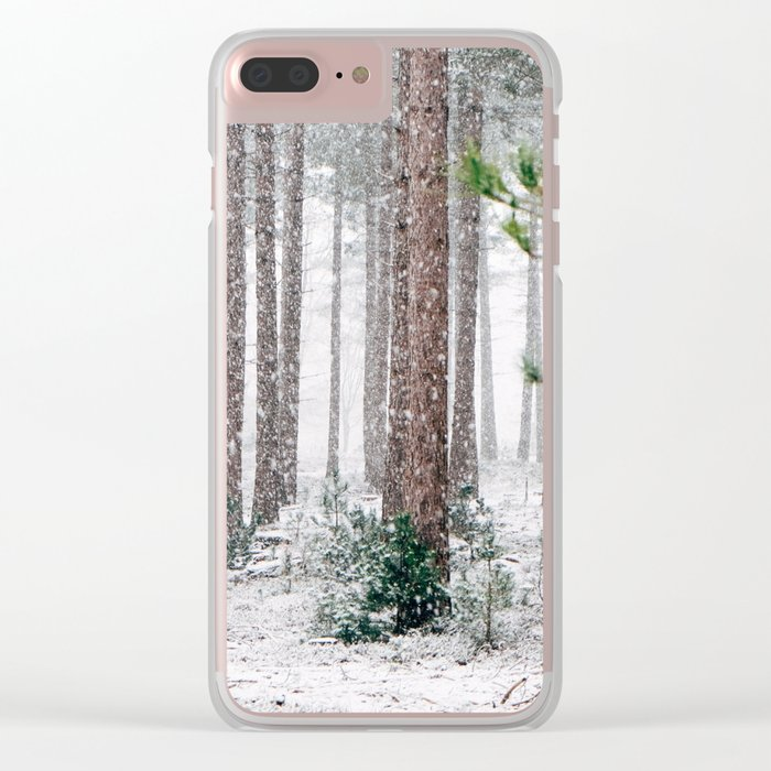 Snow #woods Clear iPhone Case
