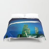 hogwarts Duvet Covers featuring Hogwarts by courtneeeee