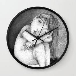 Sad Girl by Colleen Rowan Kosinski Wall Clock