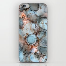 Shadow Grey Abstract Painting iPhone Skin