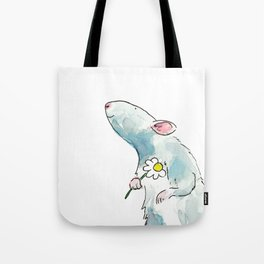 Woodland mouse with a flower Tote Bag