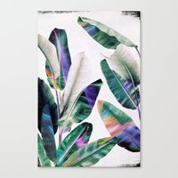 tropical Canvas Prints featuring tropical #1 by LEEMO