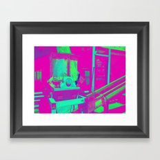 Industrial Abstract Purple Framed Art Print