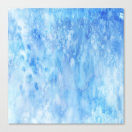 Blue Salt Canvas Print
