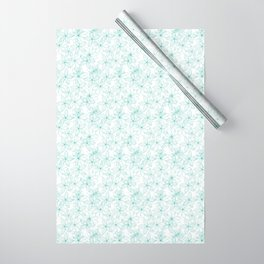 Floral Freeze White Wrapping Paper