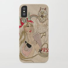 Little Red Riding Hood iPhone X Slim Case
