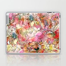 Summer Flowers | Colorful Watercolor Floral Pattern Abstract Sketch Laptop & iPad Skin