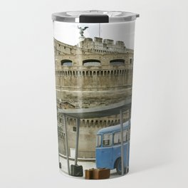 Castel Sant Angelo between past and present in color Travel Mug