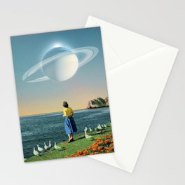 Watching Planets Stationery Cards