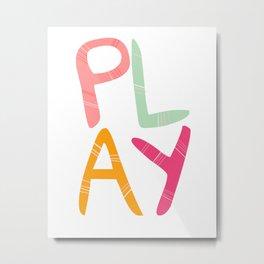 Play Nursery art Metal Print