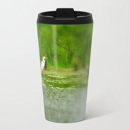 Marsh Egret Travel Mug
