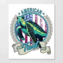 American Turt Patriotic Turtle Canvas Print