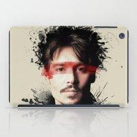 johnny depp iPad Cases featuring Johnny Depp by Brigitta