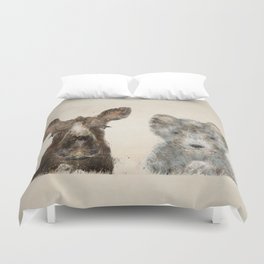 the little wolf and little moose Duvet Cover