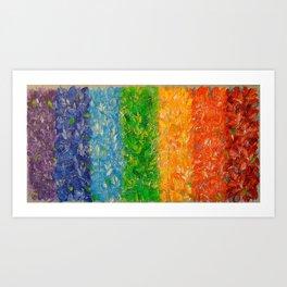 Rainbow happiness Art Print