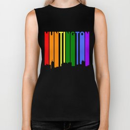 Huntington West Virginia Gay Pride Skyline Biker Tank