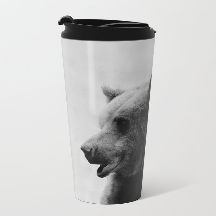 Big Bear #4 Metal Travel Mug