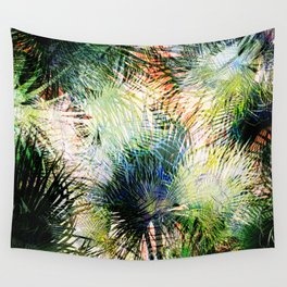 Modern palm leaves tropical abstract design Wall Tapestry