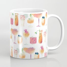 Cocktails Pattern - Colorful summer drinks - Mixology  Coffee Mug