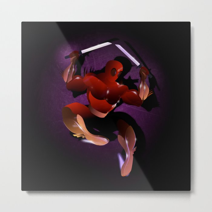 Ninja Warrior Metal Print