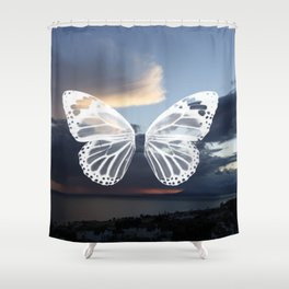 Butter wings Shower Curtain